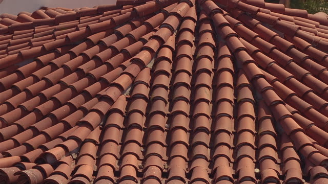 cu red-tiled rooftop of the santa barbara courthouse / santa barbara, california - tile stock videos & royalty-free footage