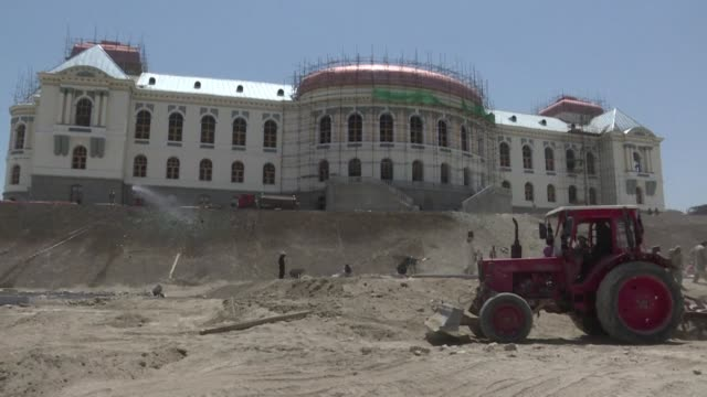 reduced to ruins by decades of war kabul's darul aman palace is being restored to its former glory and is due to reopen to coincide with the 100th... - palace stock videos & royalty-free footage