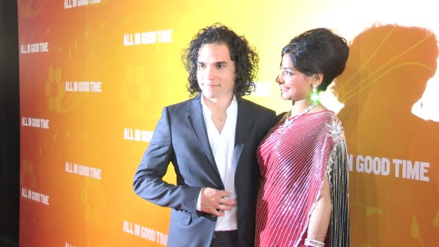 reece ritchie amara karan at gala premiere of all in good time at bfi southbank on may 8 2012 in london england - bfi southbank stock videos & royalty-free footage