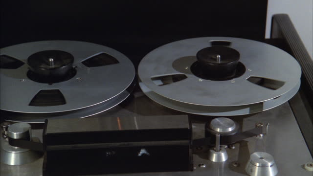 cu pan reel professional tape recorder  - recording studio stock videos & royalty-free footage