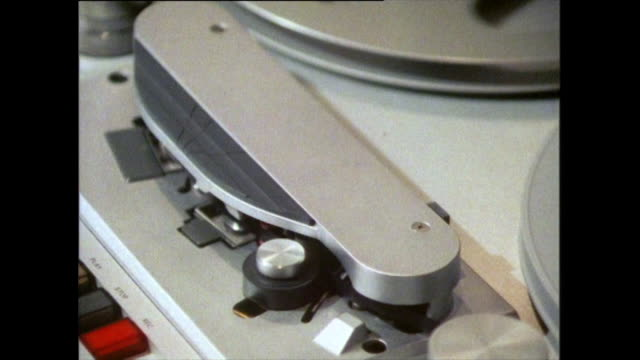 reel to reel tape deck recording audio; 1985 - recording studio stock videos & royalty-free footage