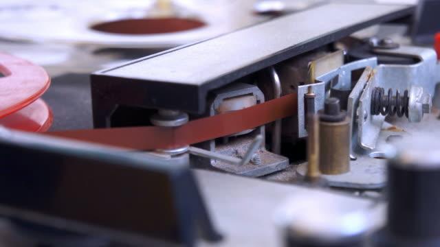 リール、テープドライブヘッド機構 - 盗聴点の映像素材/bロール