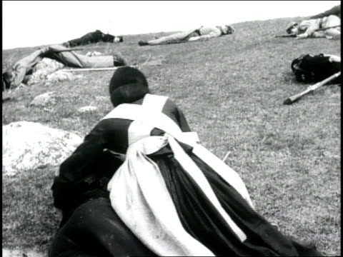 reenactment of clara barton tending to civil war wounded - hill stock videos & royalty-free footage