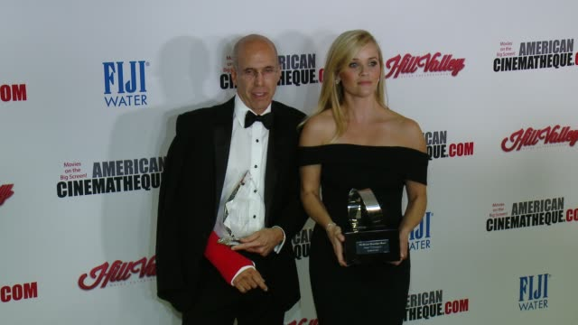 reese witherspoon and jeffrey katzenberg at the 29th annual american cinematheque award presented to reese witherspoon at the hyatt regency century... - american cinematheque stock videos & royalty-free footage