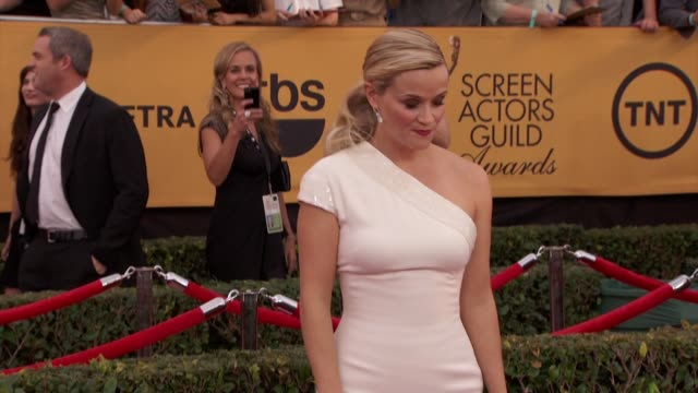 reese witherspoon at 21st annual screen actors guild awards arrivals in los angeles ca - screen actors guild awards stock videos & royalty-free footage