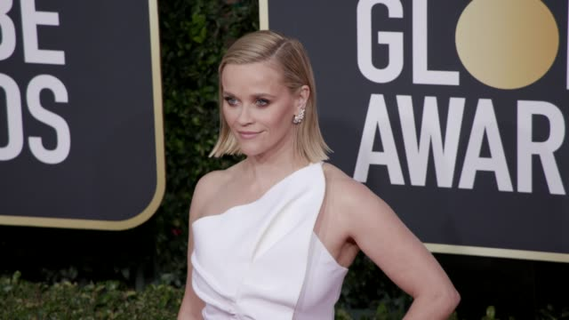 reese witherspoon at 77th annual golden globe awards at the beverly hilton hotel on january 05, 2020 in beverly hills, california. - golden globe awards stock videos & royalty-free footage
