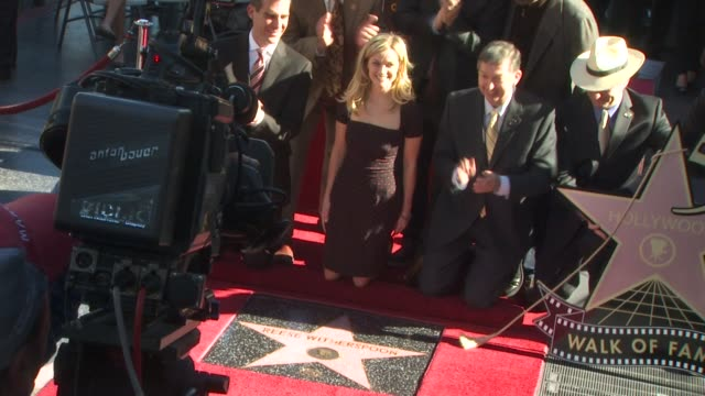 reese witherspoon at the reese witherspoon honored with a star on the hollywood walk of fame at hollywood ca - walk of fame stock videos & royalty-free footage