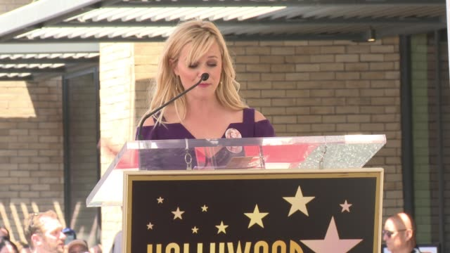 SPEECH Reese Witherspoon at the Walk Of Fame To Honor Goldie Hawn And Kurt Russell With Special Double Star Ceremony on May 4 2017 in Hollywood...