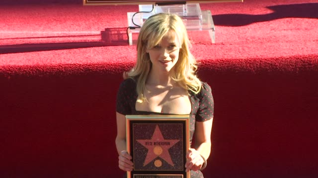 reese witherspoon honored with a star on the hollywood walk of fame hollywood ca united states 12/1/10 - walk of fame stock videos & royalty-free footage