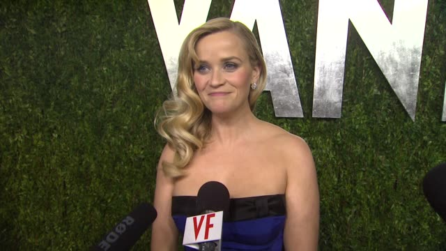 INTERVIEW Reese Witherspoon on her dress coming out for the party and most memorable part of tonight at The 2013 Vanity Fair Oscar Party Hosted By...