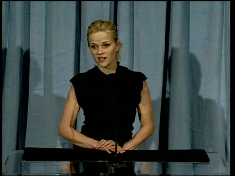 reese witherspoon on meeting the children of johnny cash at the 2006 annual academy awards nominees luncheon at the beverly hilton in beverly hills... - johnny cash stock videos & royalty-free footage