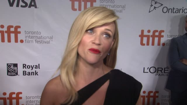 interview reese witherspoon on why this story was so captivating how this role is different for her and what it means to know it's getting such great... - toronto international film festival stock videos and b-roll footage