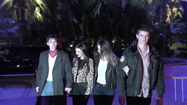 Reeve Carney and Victoria Justice at the Staples Center in Los Angeles Celebrity Sightings on March 07 2017 in Los Angeles California