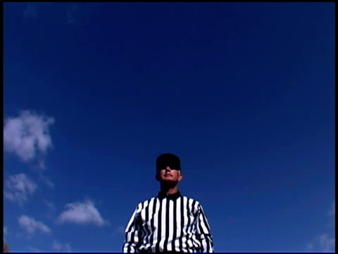 referee calling touchdown - referee stock videos & royalty-free footage