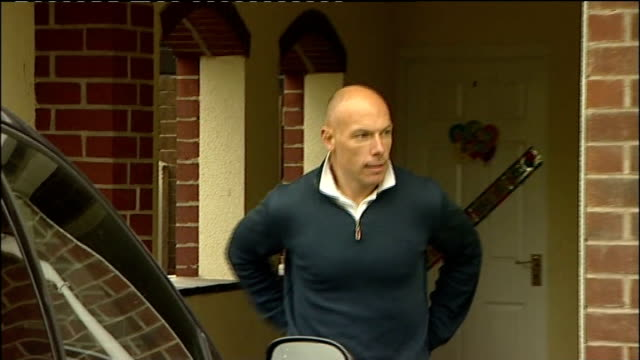 referee howard webb returns home england yorkshire rotherham ext howard webb along from house to speak to press - south yorkshire stock videos and b-roll footage
