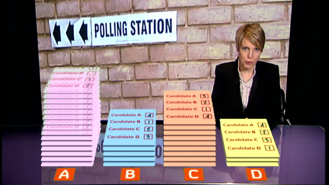 vídeos de stock e filmes b-roll de advertising campaign begins; england: int close shot of 'local elections and referendum' leaflet close shots of person flicking through pages of... - poesia literatura