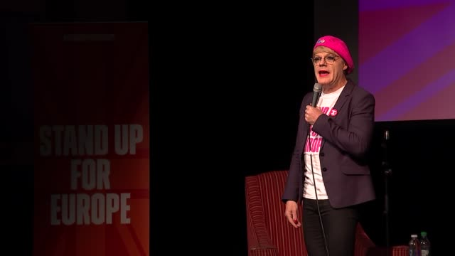 a look at young voters reporter to camera scotland edinburgh int various shots of eddie izzard speaking at south bank sky arts awards ceremony and... - body positive stock videos and b-roll footage