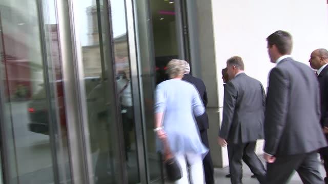 referendum campaign: boris johnson and sir john major arrivie at new broadcasting house; england: london: ext boris johnson mp arriving at new... - autographing stock videos & royalty-free footage