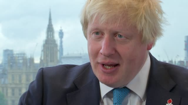 boris johnson interview boris johnson interview sot [is the nhs safe in your hands] massive opportunity to take back control of huge sums of money... - boris johnson stock videos and b-roll footage