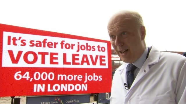 chris grayling interview chris grayling mp interview sot leaving the eu will create 64000 more jobs in london didn't know baroness warsi supported... - baroness stock videos & royalty-free footage