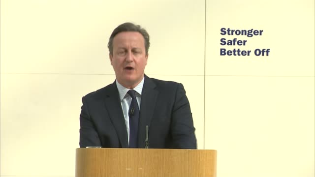 David Cameron and Boris Johnson at loggerheads British Museum INT David Cameron MP speech SOT Whenever we turn out back on Europe sooner or later we...