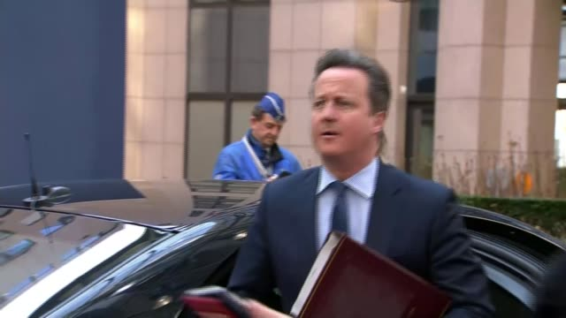 david cameron reports progress made in fight to get tampons zero rated for vat belgium brussels ext car carrying british prime minister david cameron... - tampon stock videos & royalty-free footage