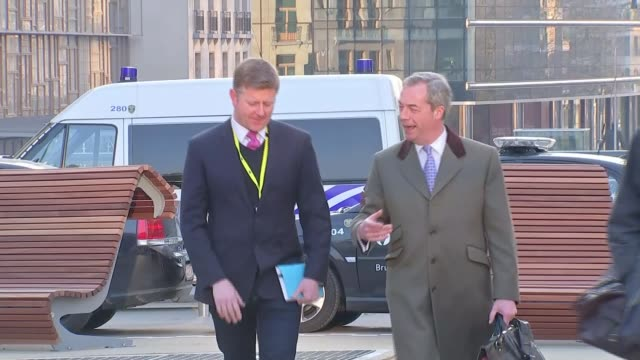 david cameron reports progress made in fight to get tampons zero rated for vat belgium brussels ext reporter shaking hands with farage and along... - tampon stock videos & royalty-free footage