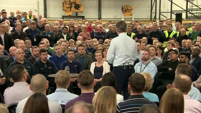 David Cameron speech cutaways ENGLAND Cambridgeshire Peterborough INT Introduction David Cameron MP speech SOT Audience cutaways