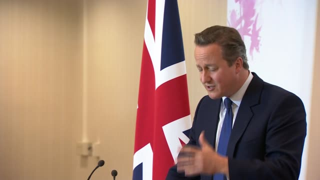 david cameron press conference david cameron qa sot on being out of single market - 国民投票点の映像素材/bロール