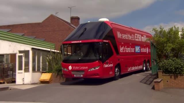 referendum campaign: george osborne press conference / boris johnson defends 'hitler' comment; england: derbyshire: alfreton: david nieper clothing... - brexit stock videos & royalty-free footage