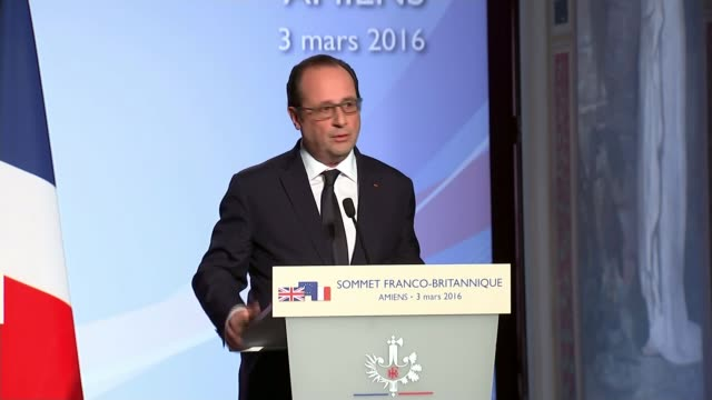 referendum campaign: hollande warns of consequences of britain leaving the european union; amiens: picardie museum: ornate celing down cameron and... - françois hollande stock videos & royalty-free footage