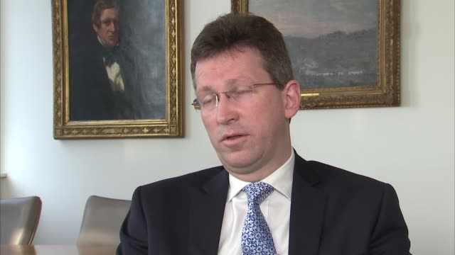 jeremy wright interview england london int jeremy wright mp interview sot on the legality of the eu reforms agreed by david cameron - 改革点の映像素材/bロール