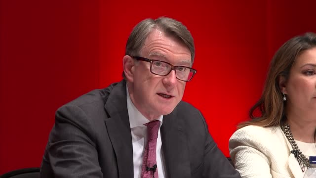stockvideo's en b-roll-footage met mirror debate nigel farage answers question sot average workers have seen a loss of earnings because of eastern european immigration peter mandelson... - peter mandelson