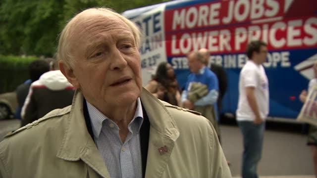 Neil Kinnock attends voter registration drive Lord Kinnock interview SOT
