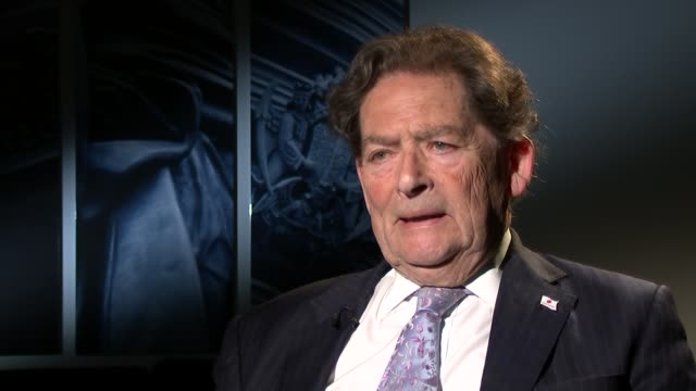 new treasury analysis warns brexit could lead to recession london int lord lawson interview sot this is simply the latest installment of the... - treasury stock videos and b-roll footage