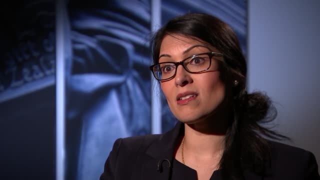 priti patel interview england london int priti patel mp interview sot re small businesses can be freed from red tape by leaving the eu europe does... - priti patel stock-videos und b-roll-filmmaterial