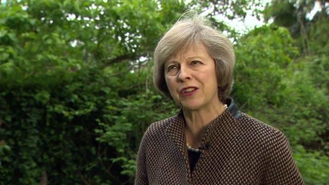 Remain Theresa May Home Secretary interview ENGLAND Kent Maidenhead EXT Theresa May MP interview SOT