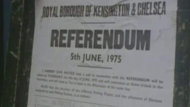 referendum could be held this summer says david cameron; 1975 ext notice on board re 1975 eu referendum - referendum stock videos & royalty-free footage