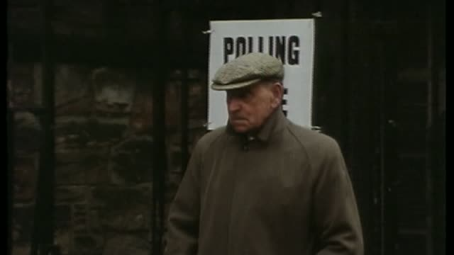 eu referendum could be held this summer says david cameron lib elderly man standing outside polling station - 1975 stock videos & royalty-free footage