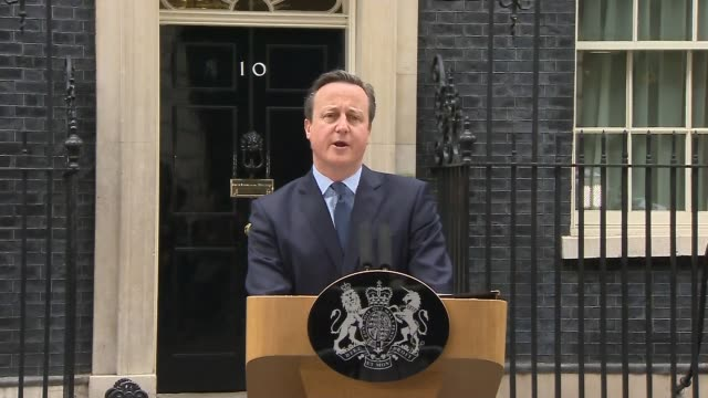 david cameron announces date as june 23rd 2016 as cabinet splits into in and out camps england london downing street photography*** david cameorn mp... - david cameron politician stock videos & royalty-free footage