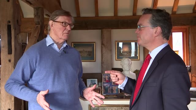 jeanclaude juncker confident of uk reform deal bill cash watching video bill cash interview sot talks of the german view of democracy and them... - moat stock videos & royalty-free footage