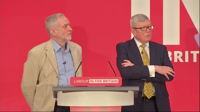jeremy corbyn eu speech / reaction jeremy corbyn beside alan johnson mp for question and answer session after eu speech sot you'll hear plenty from... - alan johnson stock videos & royalty-free footage