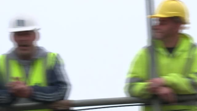 last day of campaign bricklayers on site saying what they will be voting in eu referendum most voting out sot one saying immigration is the reason sot - last day stock videos & royalty-free footage