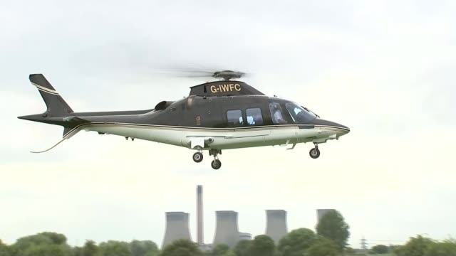 last day of campaign west midlands privae helicopter landin gin field power station cooling towers in distance/ wolverhampton boris johnson shaking... - last day stock videos and b-roll footage