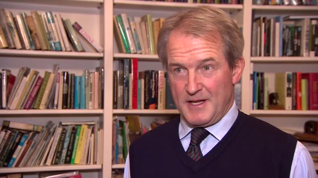 lord heseltine warns of dangers of conservative party split england owen paterson mp interview sot - オーウェン・パターソン点の映像素材/bロール