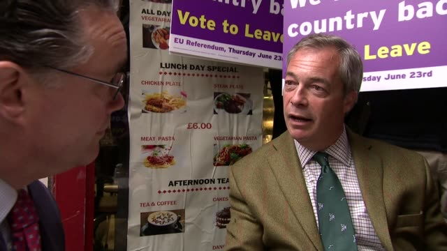 opinion polls put leave campaign ahead ext nigel farage mep towards from campaign bus and signing autograph on vote leave sign on top of car close... - table top shot stock videos and b-roll footage