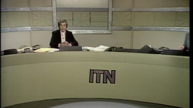 possibility of two referendums bsp020695027 / 661975 itn programme on result of 1975 eu referendm 'europe the nation decides' showing opening titles... - stationary stock videos & royalty-free footage