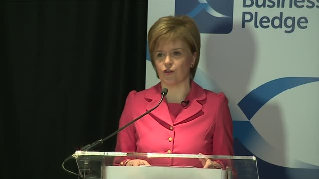 stockvideo's en b-roll-footage met eu referendum / queen's speech preview scotland edinburgh int nicola sturgeon msp speech sot we will propose a double majority meaning that exit from... - mogelijk