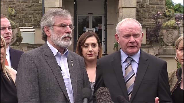 northern ireland reaction gerry adams and martin mcguinness statement northern ireland londonderry / derry ext martin mcguinness gerry adams and... - european union stock videos and b-roll footage