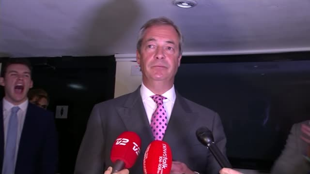 to leave the eu / cameron announces resignation; london: nigel farage mep speech sot - let's get rid of the flag, then anthem, brussels and all that... - nigel farage stock videos & royalty-free footage